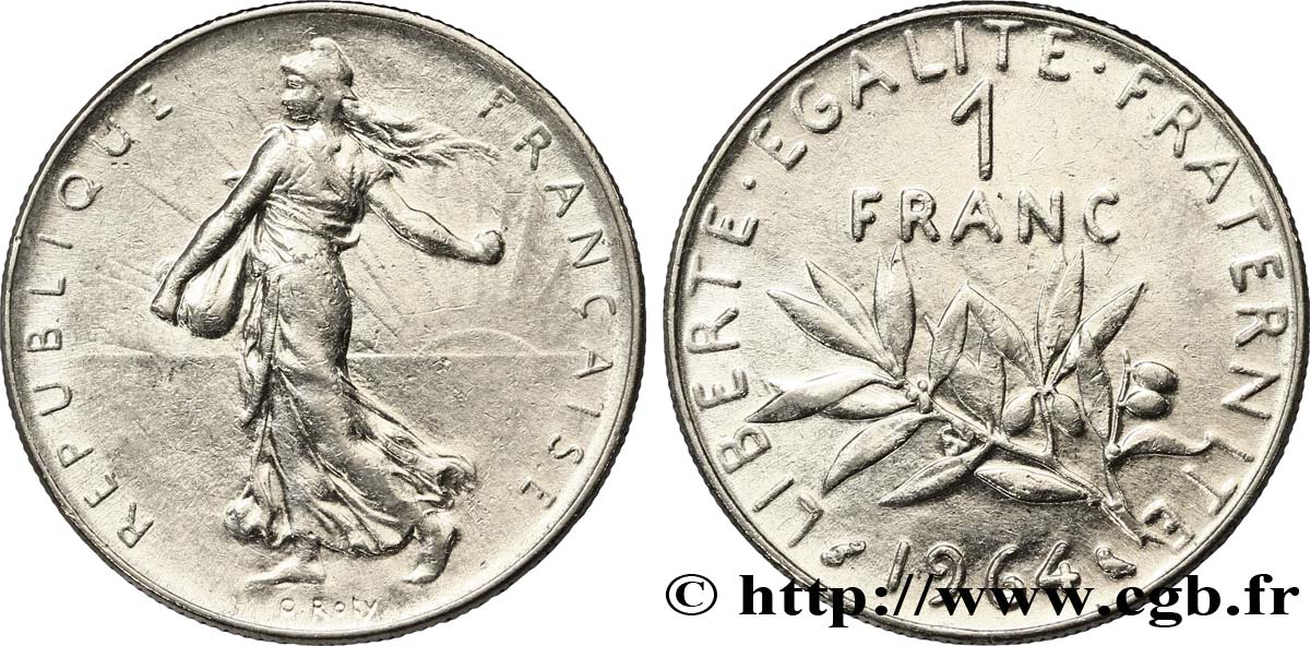 1 franc Semeuse, nickel 1964 Paris F.226/8 TTB54