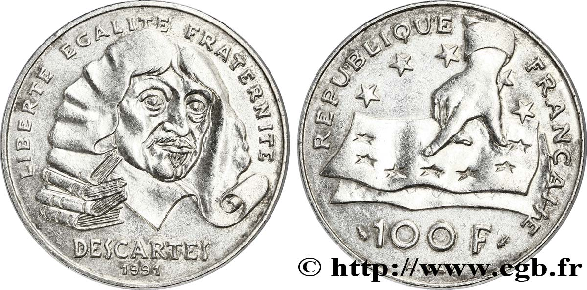 100 francs René Descartes 1991  F.459/2 SUP