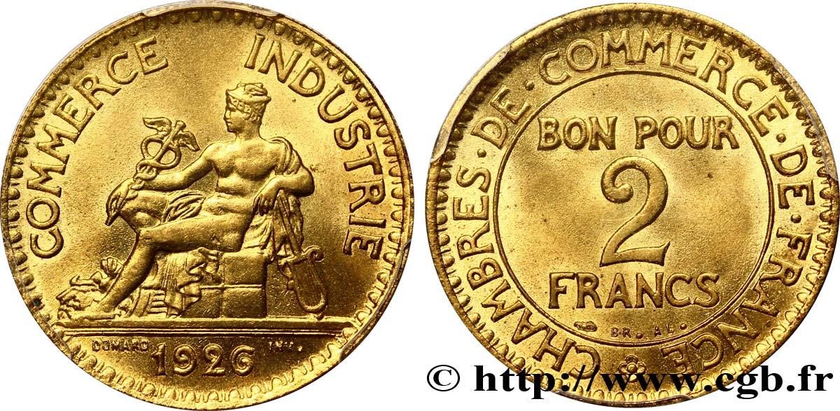 2 francs chambres de commerce 1926 fmd 322227 modernes for Chambre de commerce des bois francs