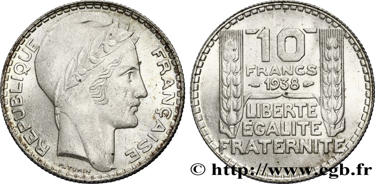 10 francs Turin 1938  F.360/9 SUP62