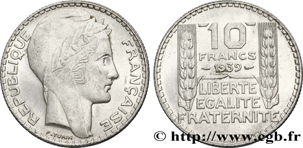 10 francs Turin 1939  F.360/10 SUP60