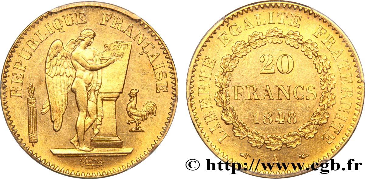 20 Francs Or Genie Iie Republique 1848 Paris F 528 1 Fmd 328421