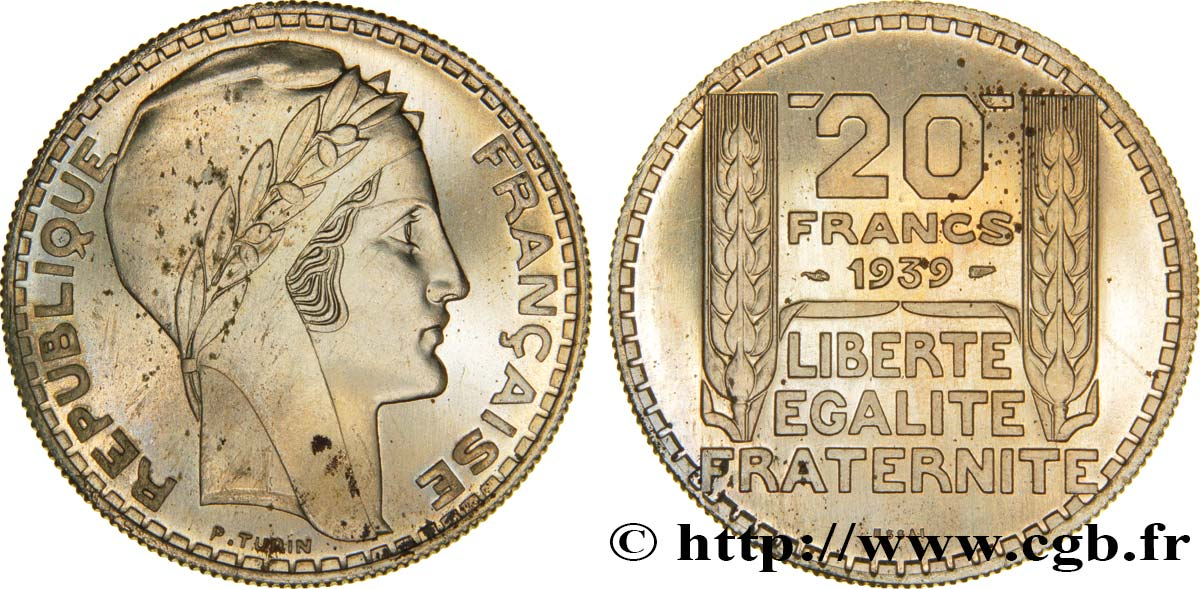 Essai de 20 francs Turin, en cupro-nickel 1939 Paris GEM.200 12 FDC65