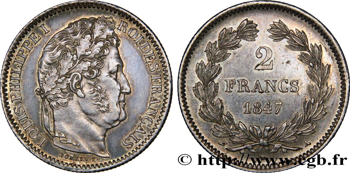 2 francs Louis-Philippe 1847 Paris F.260/112 SUP58