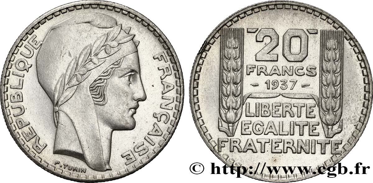 20 francs Turin 1937  F.400/6 SUP58