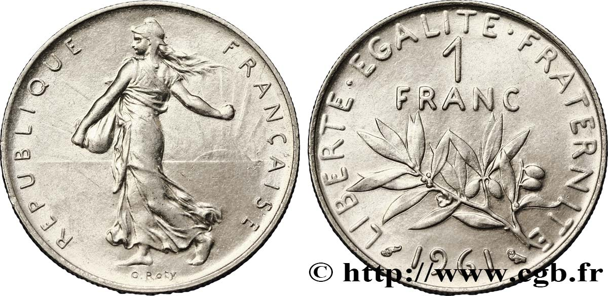 1 franc Semeuse, nickel 1961 Paris F.226/6 TTB50