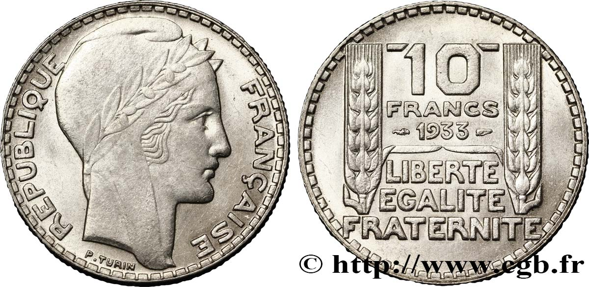 10 francs Turin 1933  F.360/6 SUP62