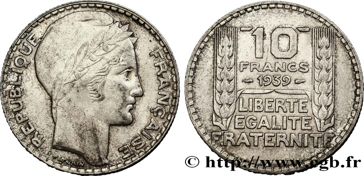 10 francs Turin 1939  F.360/10 SUP55