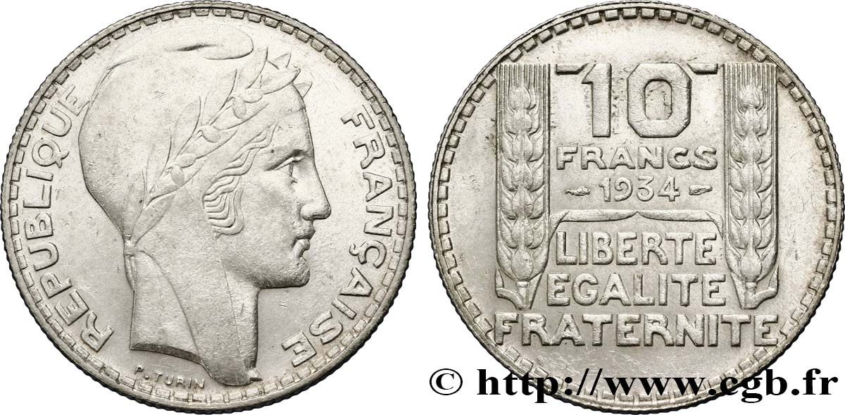 10 francs Turin 1934  F.360/7 SUP58