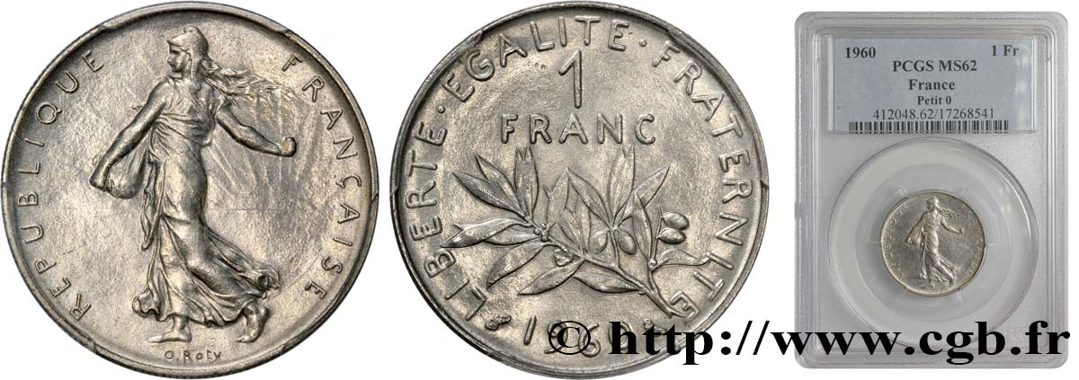 1 franc Semeuse, nickel 1960 Paris F.226/4 SUP60