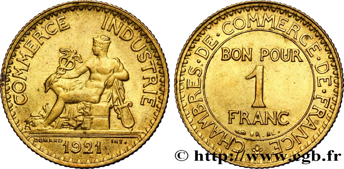 1 franc chambres de commerce 1921 paris fmd 341670 for Chambre de commerce internationale paris arbitrage
