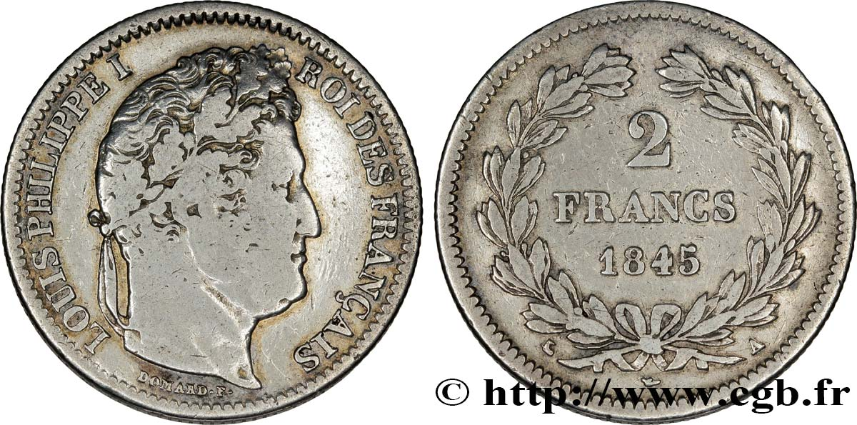 2 francs Louis-Philippe 1845 Paris F.260/102 TB28