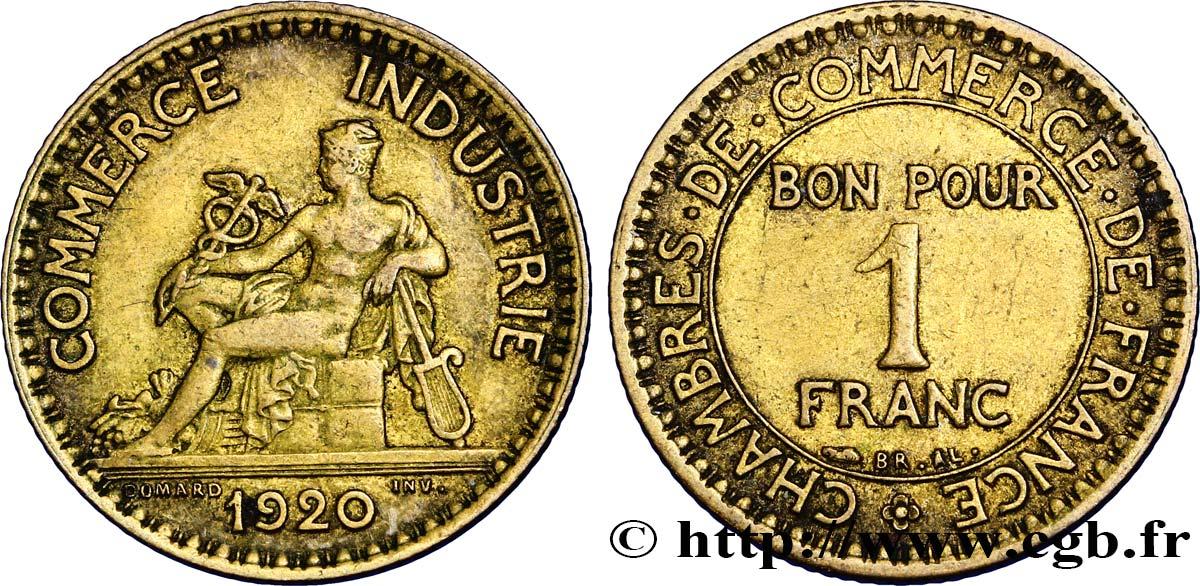 1 franc chambres de commerce 1920 paris fmd 350187 for Chambre commerce international paris
