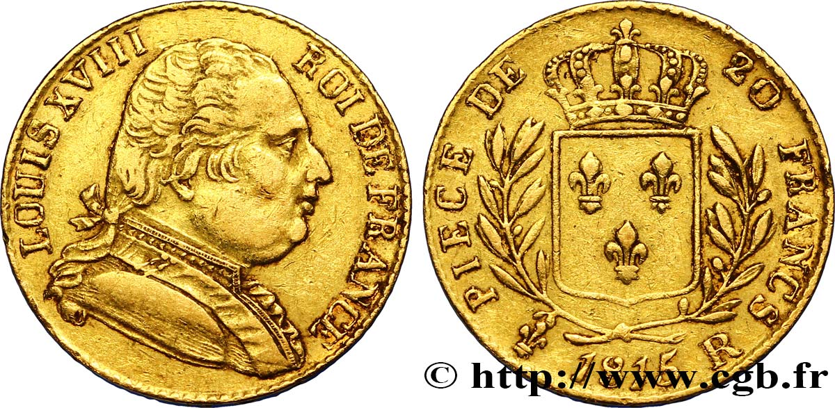 20 francs or Londres 1815 Londres F.518/1 TTB42