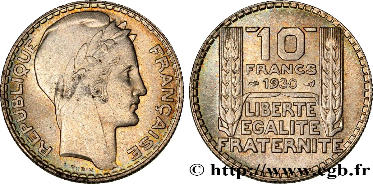 10 francs Turin 1930  F.360/3 SUP60