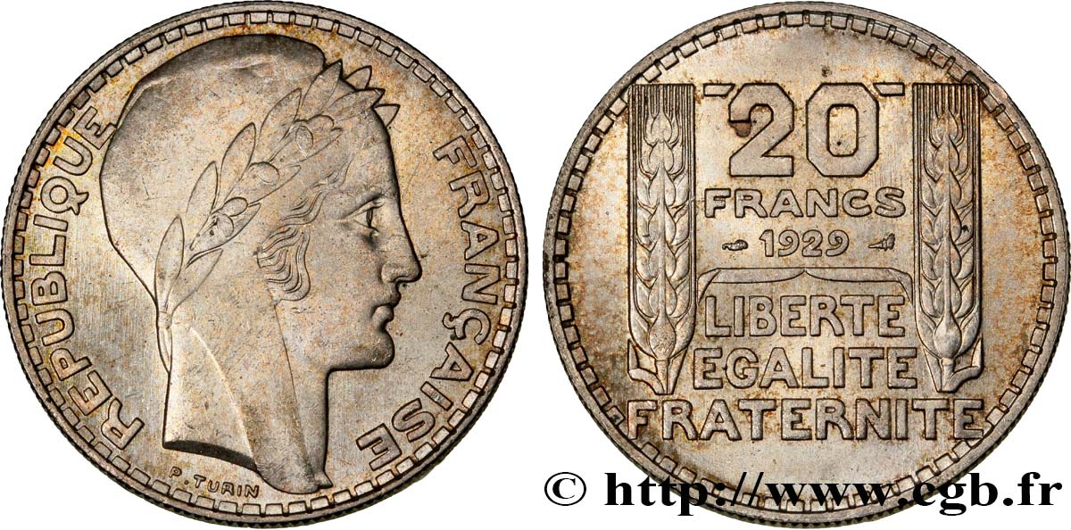 20 francs Turin 1929  F.400/2 SUP60