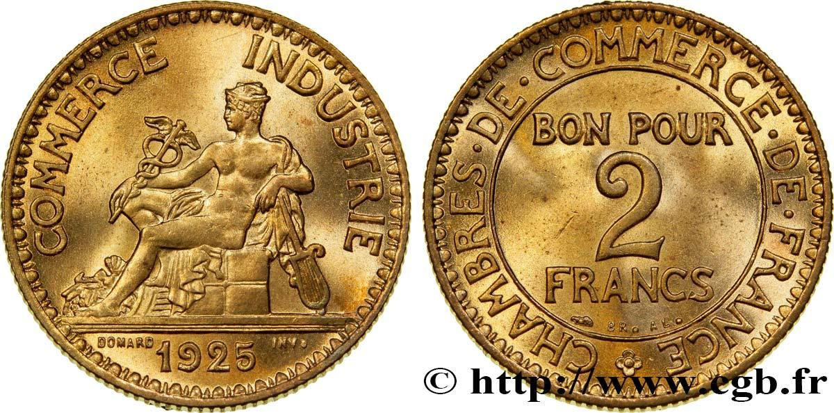 2 francs chambres de commerce 1925 fmd 356458 modernes for Chambre de commerce des bois francs