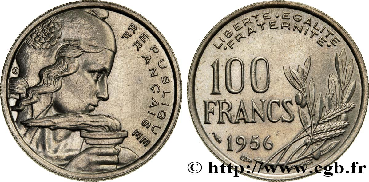 100 francs Cochet 1956  F.450/8 MS62