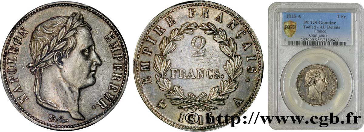 2 francs Cent-Jours 1815 Paris F.256/1 SUP60 PCGS