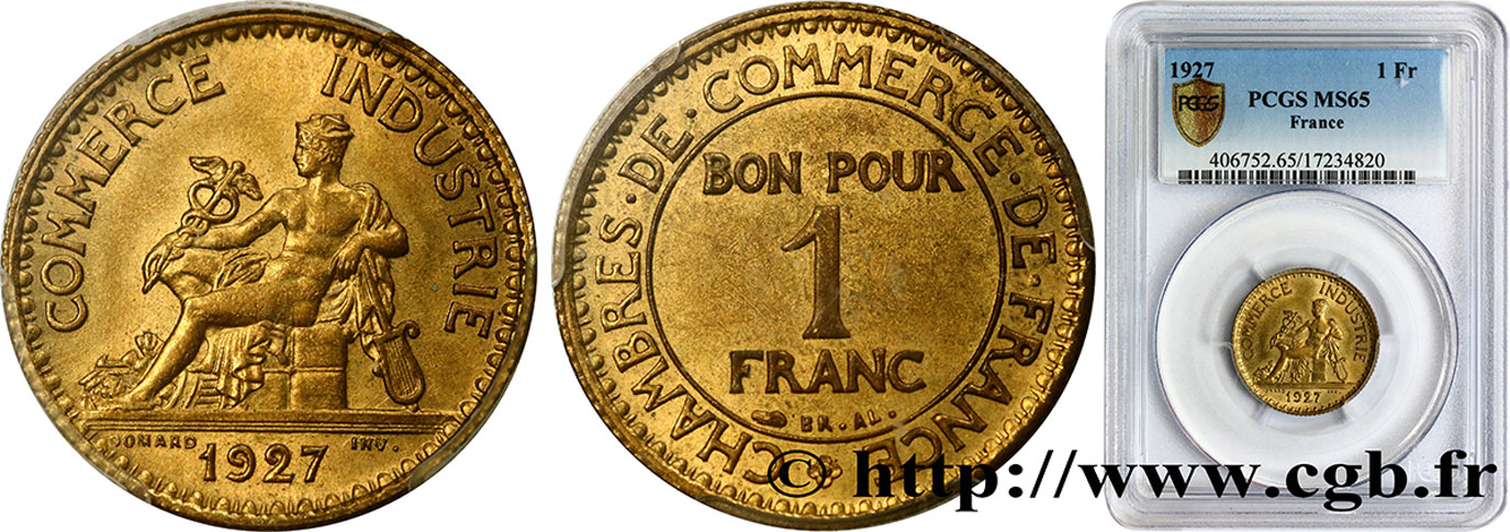 1 franc chambres de commerce 1927 paris fmd 371887 for Chambre de commerce internationale paris arbitrage