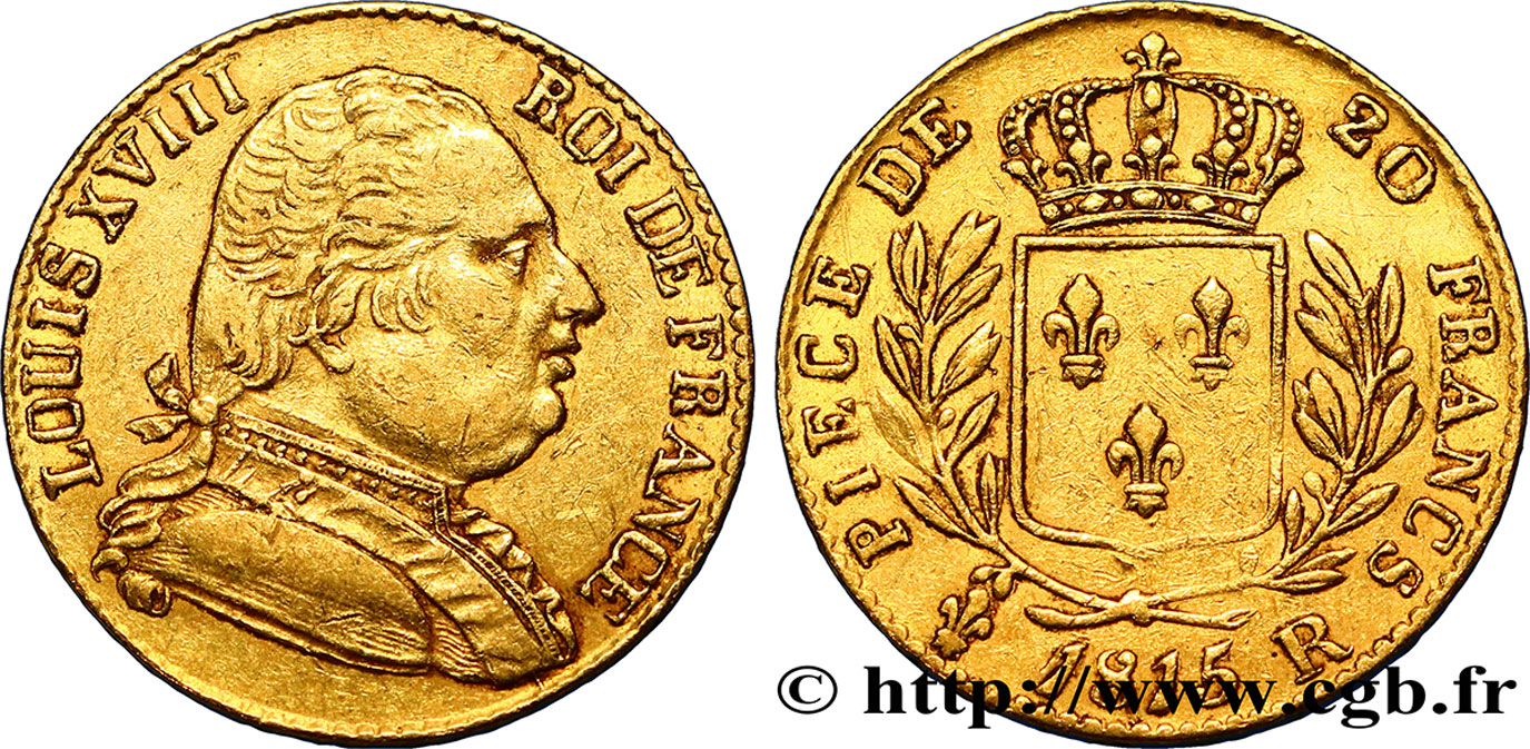 20 francs or Londres 1815 Londres F.518/1 TTB45