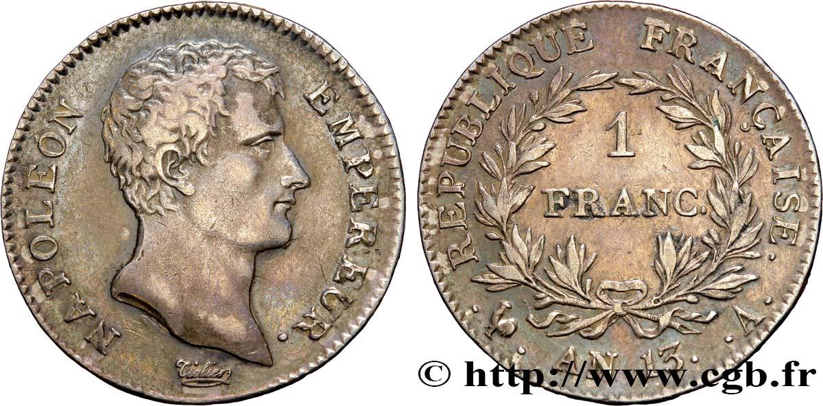 1 Franc Napoléon Empereur Calendrier Révolutionnaire 1805 Paris F