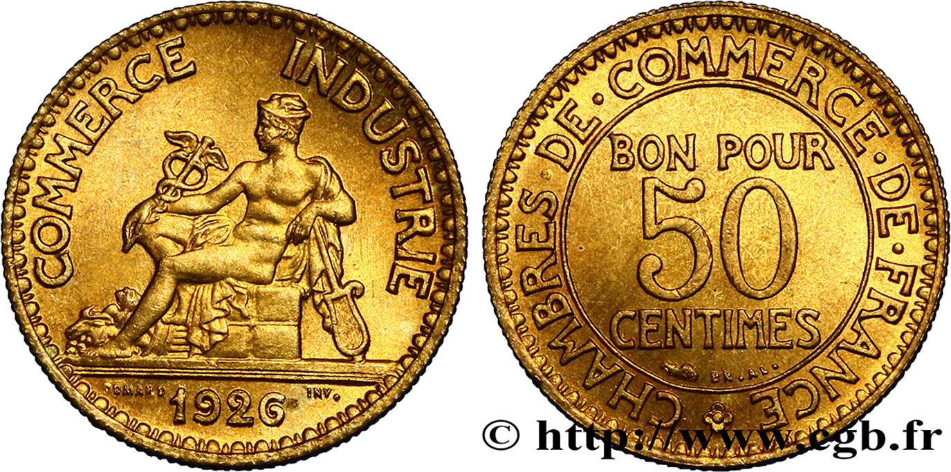 50 centimes chambres de commerce 1926 paris fmd for Chambre de commerce internationale paris arbitrage