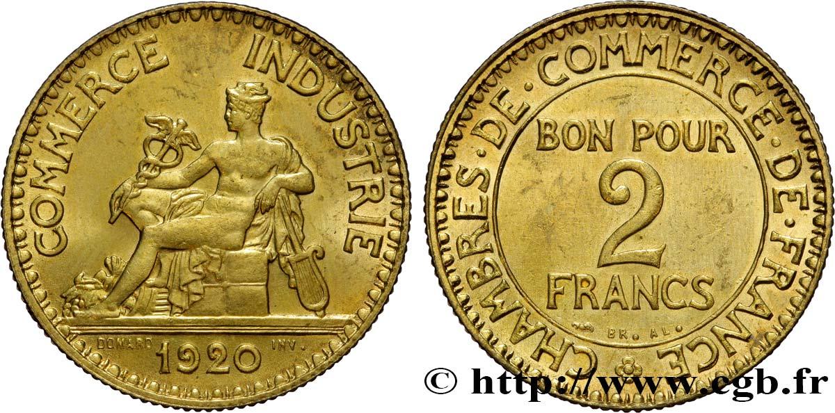 2 francs chambres de commerce 1920 fmd 393390 for Chambre de commerce des bois francs