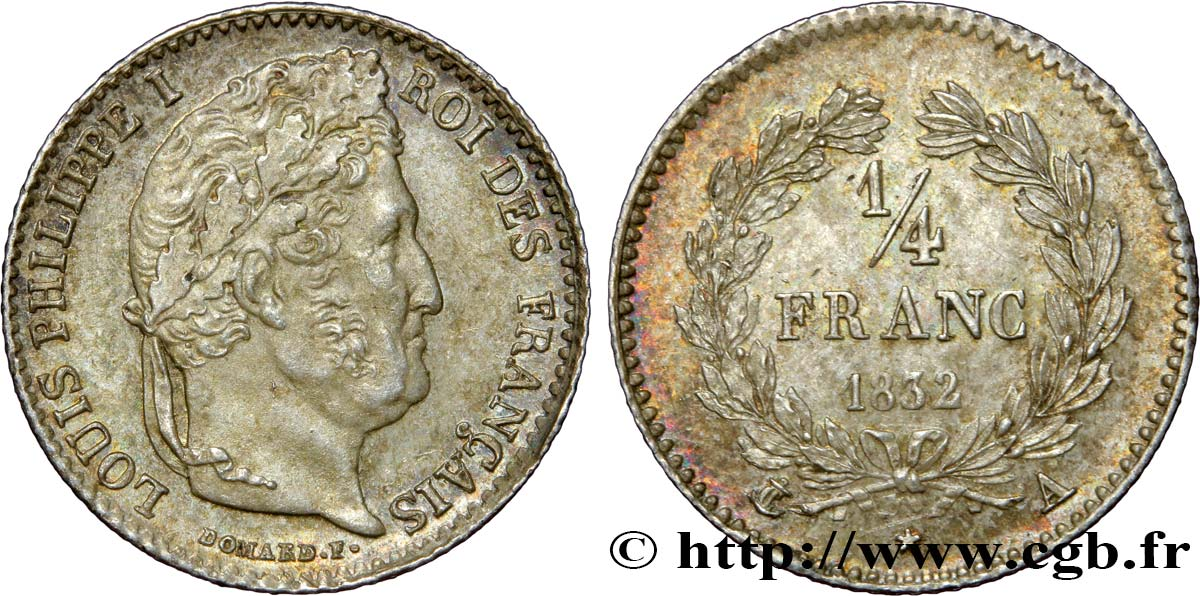 1/4 franc Louis-Philippe 1832 Paris F.166/14 VZ58