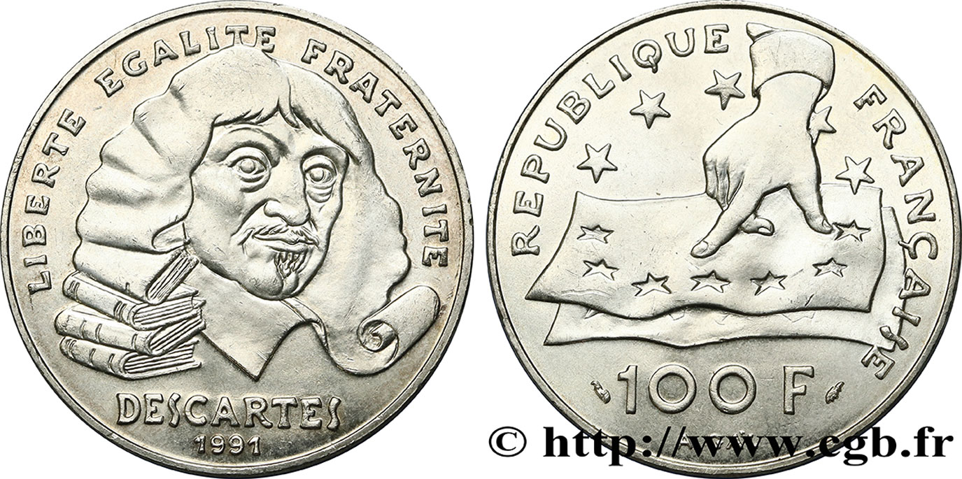100 francs René Descartes 1991  F.459/2 SUP62