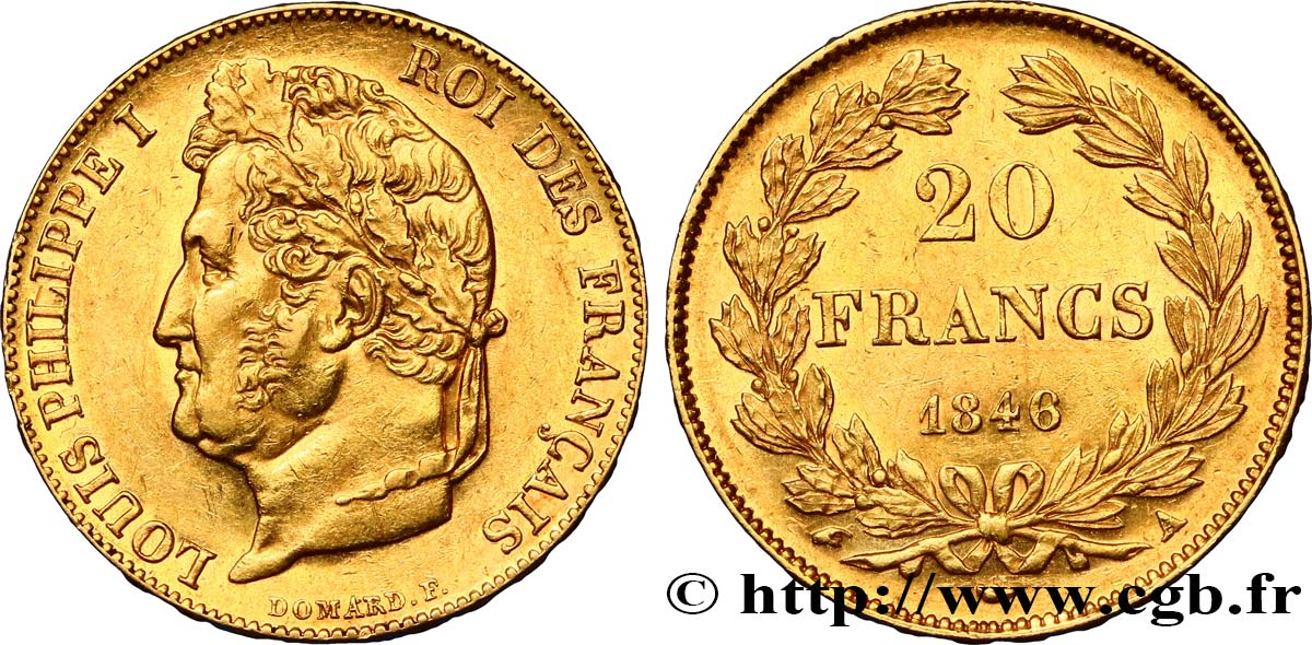 20 francs or Louis-Philippe, Domard 1846 Paris F.527/35 TTB52