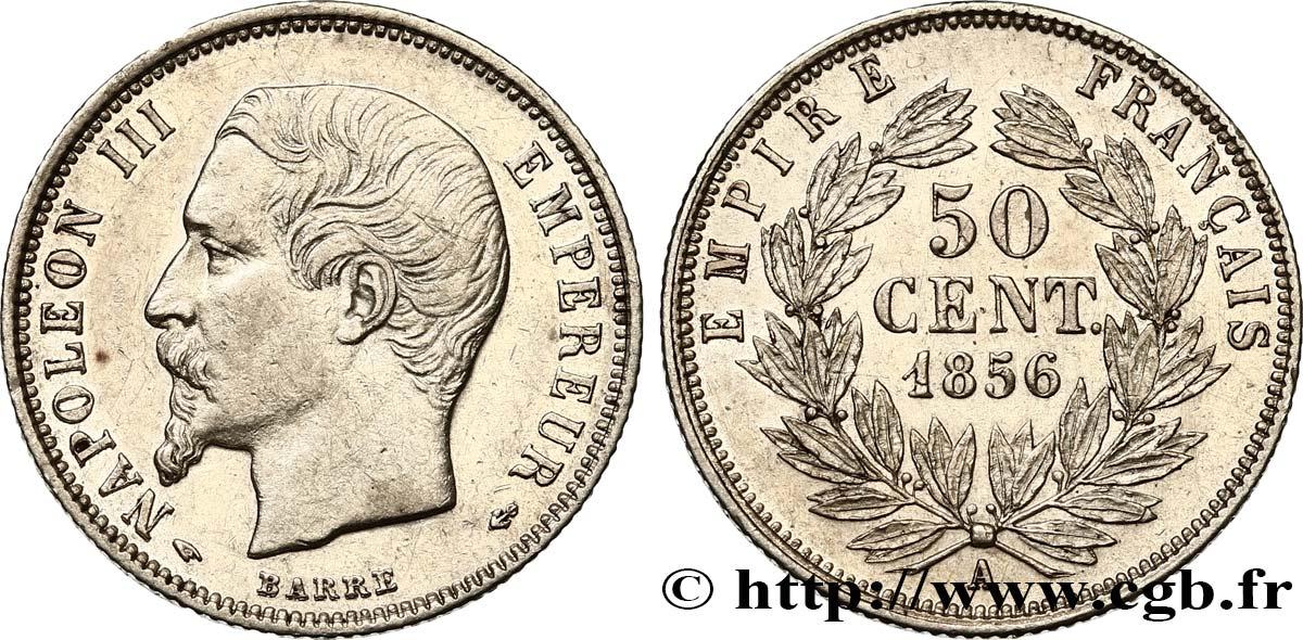 50 centimes Napoléon III, tête nue 1856 Paris F 187/5