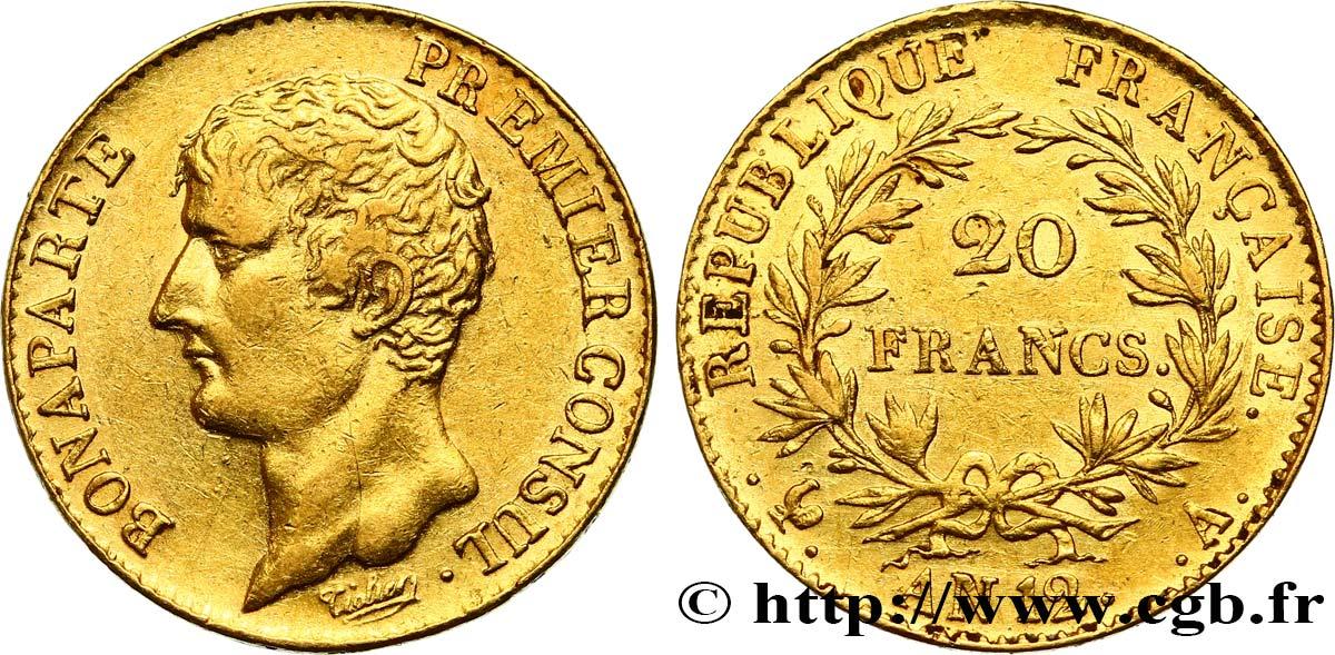 20 francs or Bonaparte Premier Consul 1804 Paris F 510/2