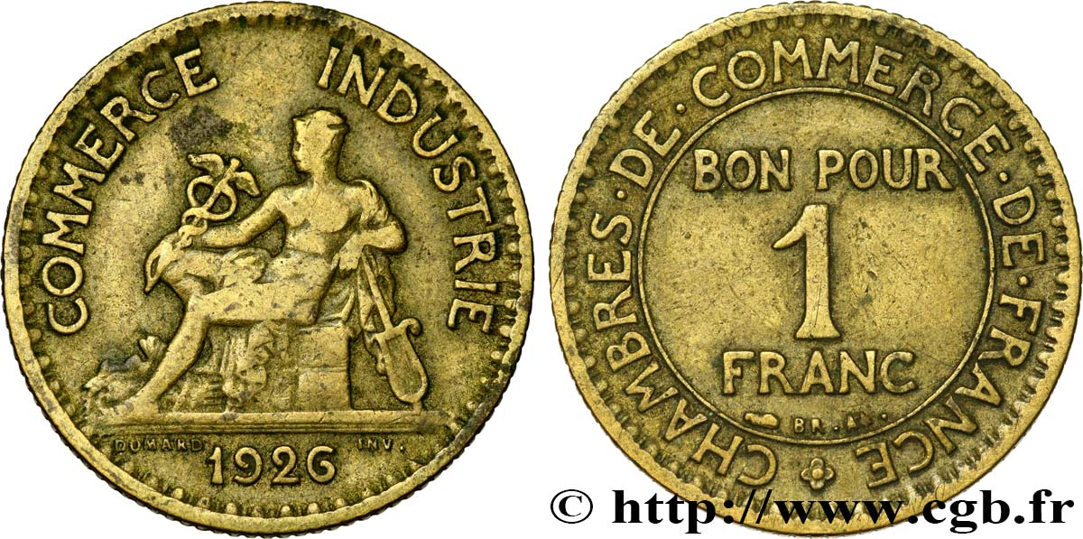 1 franc chambres de commerce 1926 paris fmd 466940 for Chambre de commerce internationale paris arbitrage