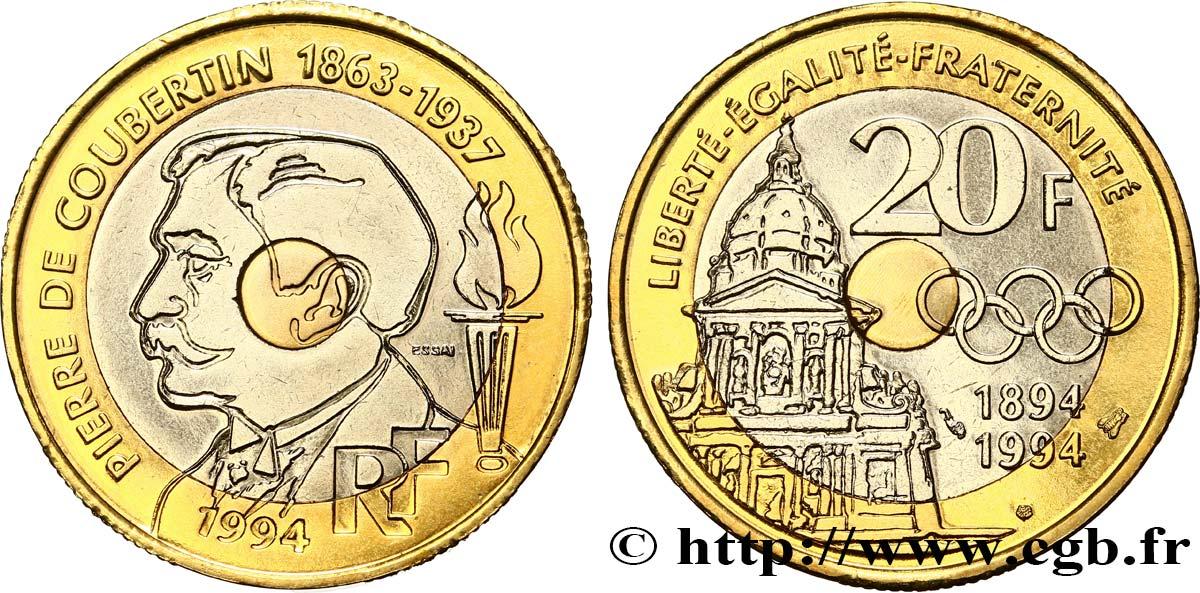 piece de monnaie 20 francs 1994