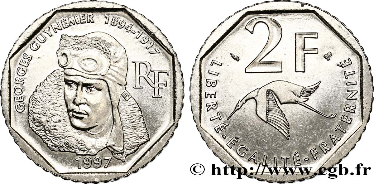 2 francs Georges Guynemer 1997  F.275/2 SUP62