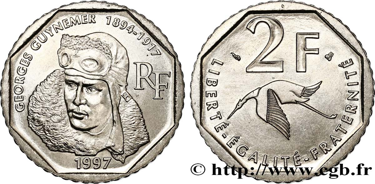 2 francs Georges Guynemer 1997  F.275/2 MS63