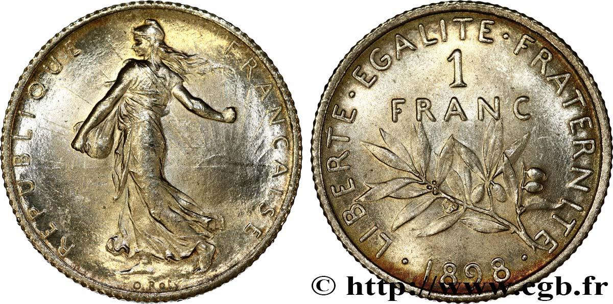 1 Franc Semeuse 1898 Paris F2171 Fmd497555 Modernes