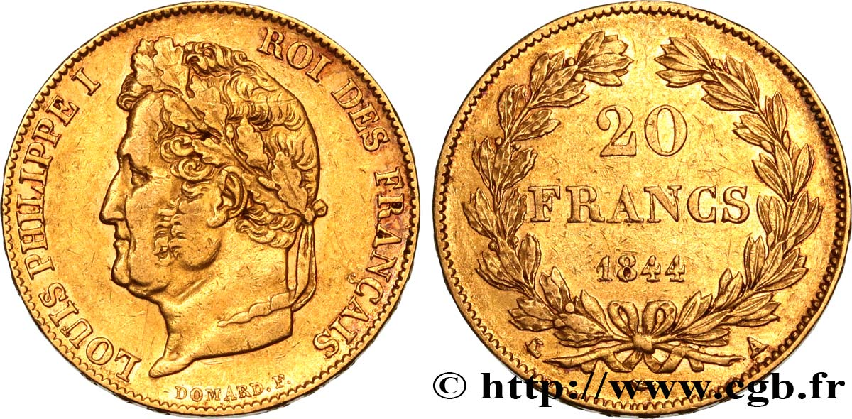 20 francs or Louis-Philippe, Domard 1844 Paris F.527/31 TTB45