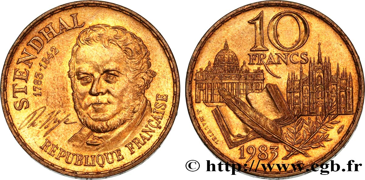 10 francs Stendhal 1983  F.368/3 SUP58