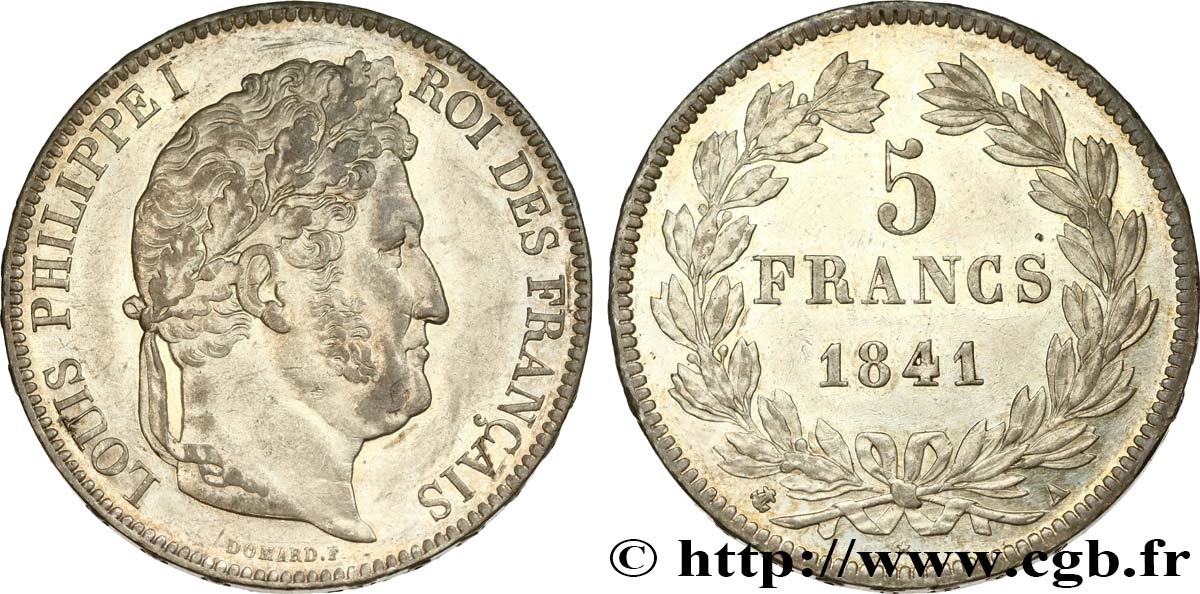 5 francs IIe type Domard 1841 Paris F.324/90 SUP61