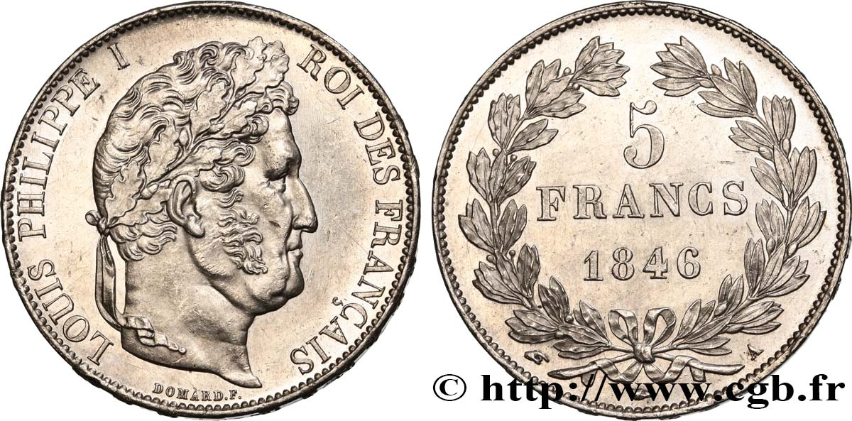5 francs IIIe type Domard 1846 Paris F.325/10 SUP62