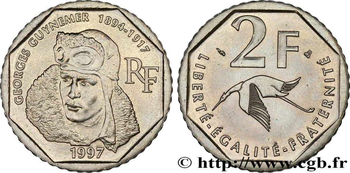 2 francs Georges Guynemer 1997  F.275/2 SUP60