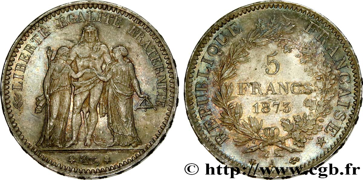 5 francs Hercule 1873 Paris F.334/9 SUP60