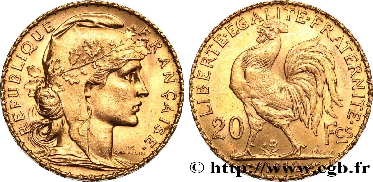 20 francs or Coq, Liberté Égalité Fraternité 1912 Paris F