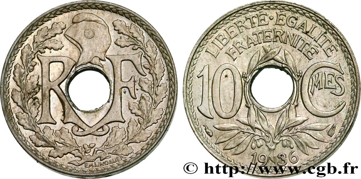10 centimes Lindauer 1936  F.138/23 SUP62