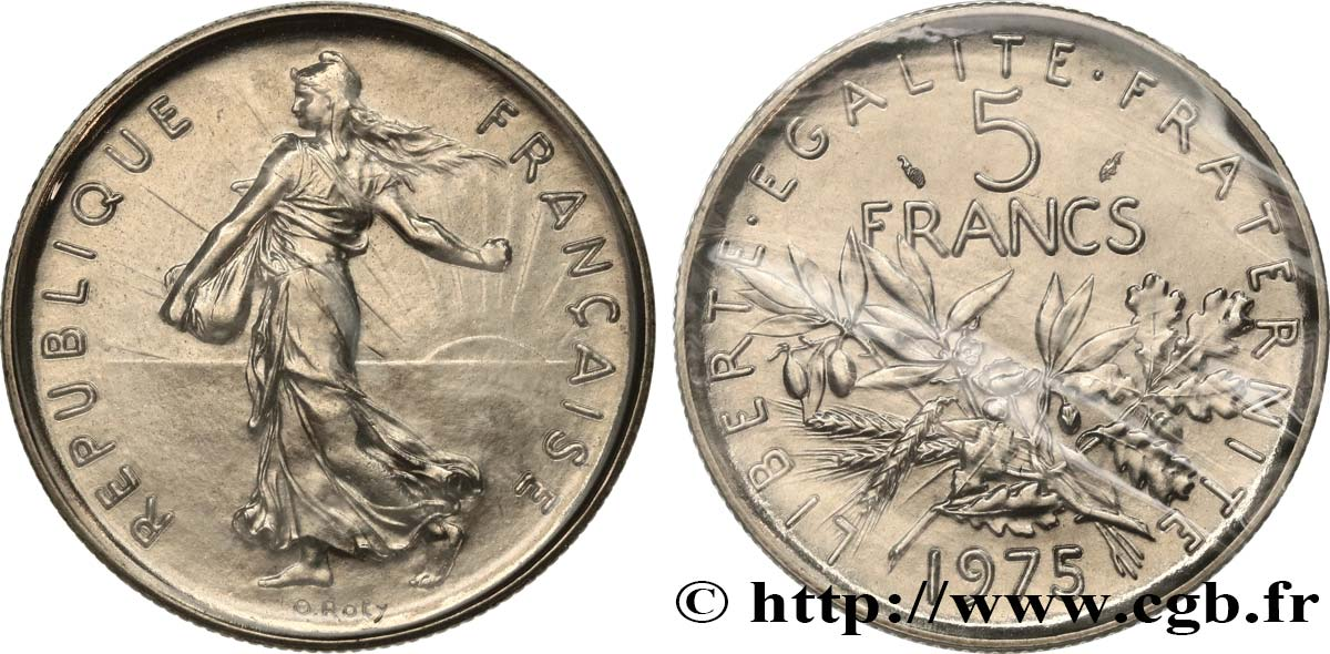 5 francs Semeuse, nickel 1975 Paris F.341/7 MS