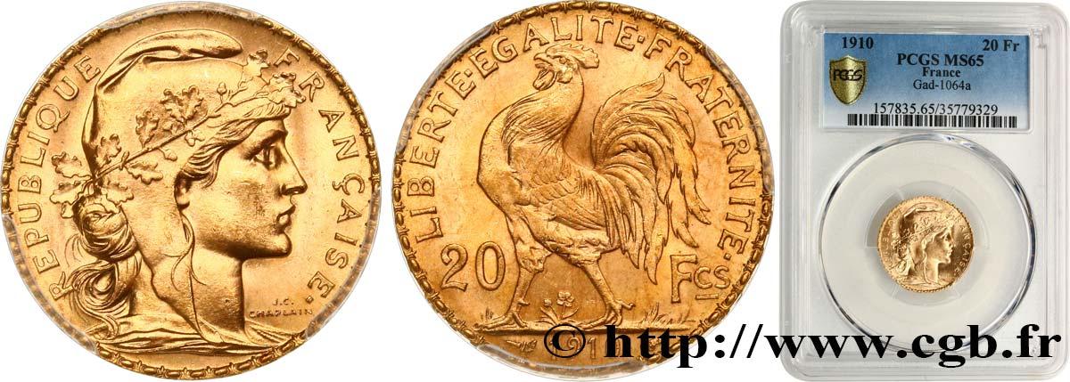 20 Francs Or Coq Liberté égalité Fraternité 1910 Paris F5354