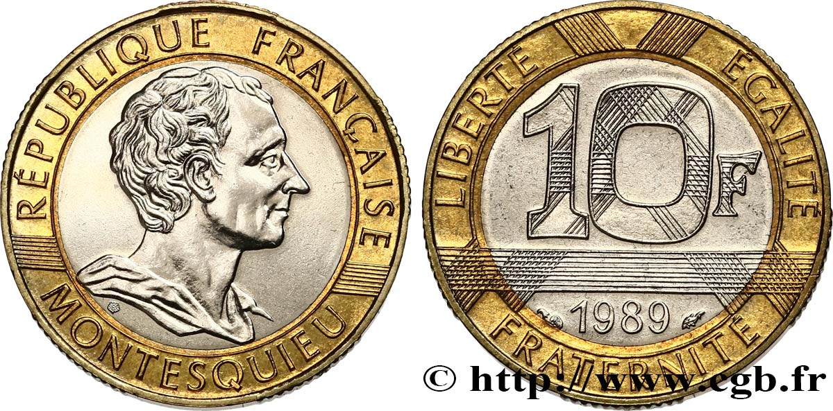 10 francs Montesquieu 1989  F.376/2 MS