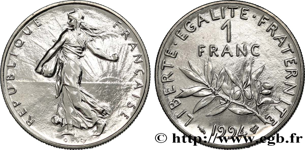 1 franc Semeuse, nickel 1994 Pessac F.226/42 MS